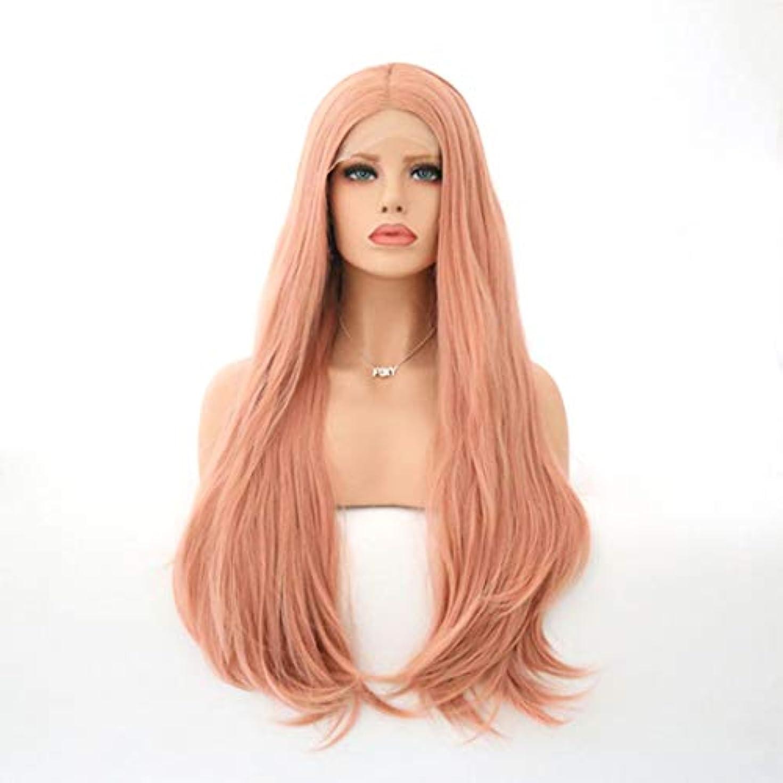 タイピストダニ建築家Kerwinner 女性のための自然な長い巻き毛のかつらの代わりとなるかつら合成繊維の毛髪のかつら
