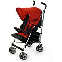Hauck Turbo Deluxe Stroller, Red (Discontinued by Manufacturer) by Hauck