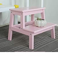 Hdhxt ステップスツール ステップスツール家庭用木製ステップスツール子供はしごスツール大人のステップスツール多色オプション脚立 折りたたみ式はしご用チェア多機能木製折りたたみ式はしご (Color : C)