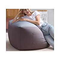 LMZ ビーンバッグ怠惰なソファ厚いクッション畳快適なシングルファブリックソファ寝室リビングルーム快適な椅子大小サイズ70×70×42センチ (Color : Light gray, Size : S)