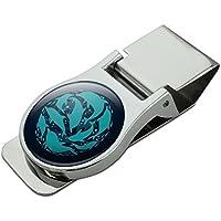 サテンのクロムメッキメタルマネークリップドルフィンサークルサーディンズオーシャンフィッシュ