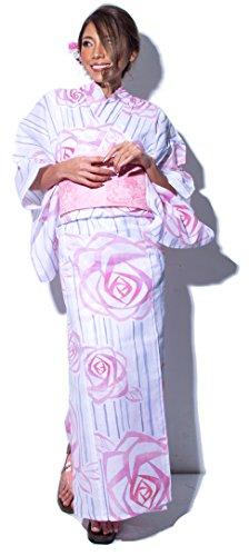(ディータ)DITA 2017年デザイン 選べる10柄 本格女性浴衣セット(ゆかた)・帯(つくりおび)・下駄(ゲタ)の3点 一人でも着られる作り帯 レディース FREE(フリーサイズ) I