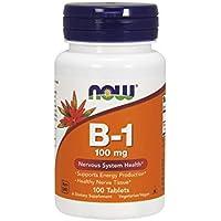 海外直送品 Now Foods B-1, 100 Tabs 100 mg