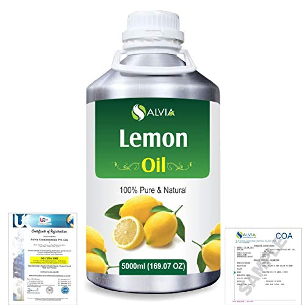 ステレオタイプ高く参照Lemon (Citrus limonum) 100% Natural Pure Essential Oil 5000ml/169fl.oz.