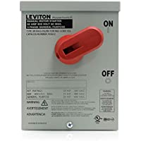Leviton N3602 60 Amp, 600 Volt, Toggle In Type 3R Enclosure, Double-Pole, AC Motor Starting Switch, Suitable as Motor Disconnect, Industrial Grade, Black by Leviton [並行輸入品]