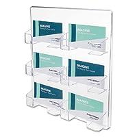 six-pocket壁マウントビジネスカードホルダー、83/ 8x 11/ 2x 93/ 4、クリア、Sold As 1Each