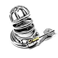 PLL 男性のためのステンレス鋼の金属貞操帯ロックはオナニーを防止するために、そして婚外問題プライバシーの利便性 ジーパン (Size : L 50mm)