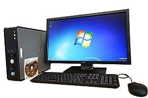 DELL-OptiPlex-Core 2 duo-HDD160GB/メモリー2GB-DVD-ROM-無線LAN搭載-Windows7PRO-780-2930SFF-デスクトップDell22インチ液晶モニターセット