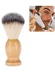 1個 シェービングブラシ 髭剃り メンズ ポータブルひげ剃り美容ツール