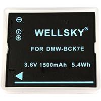 [WELLSKY] Panasonic パナソニック DMW-BCK7 互換バッテリー [ 純正充電器で充電可能 残量表示可能 純正品と同じよう使用可能 ] LUMIX ルミックス DMC-FX77 / DMC-FH7 / DMC-FH5 / DMC-S1 / DMC-FP7 / DMC-FP7D / DMC-S3 / DMC-FX90 / DMC-SZ7 / DMC-FX80 / DMC-FT20 / DMC-FH8 / DMC-FH6 / DMC-S2 / DMC-FT25