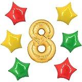 アドワン 数字 風船 バルーン 飾り付け 誕生日 ゴールド 大きい 数字1~9 文字 記念日 お祝い (8)