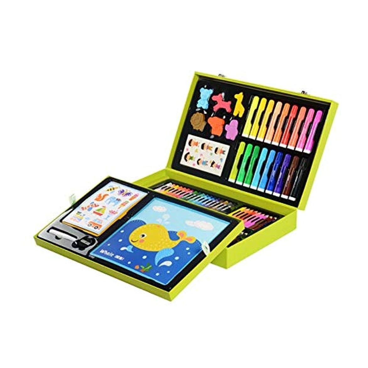 系統的支配的思われるHongyuantongxun001 ペイントブラシ、滑らかな132子供の絵画セット、繊細なデザインの学生練習絵画特別なブラシセット(132個、37 * 23 * 8cm) カジュアルな絵画 (Color : Green, Size : 37*23*8cm)
