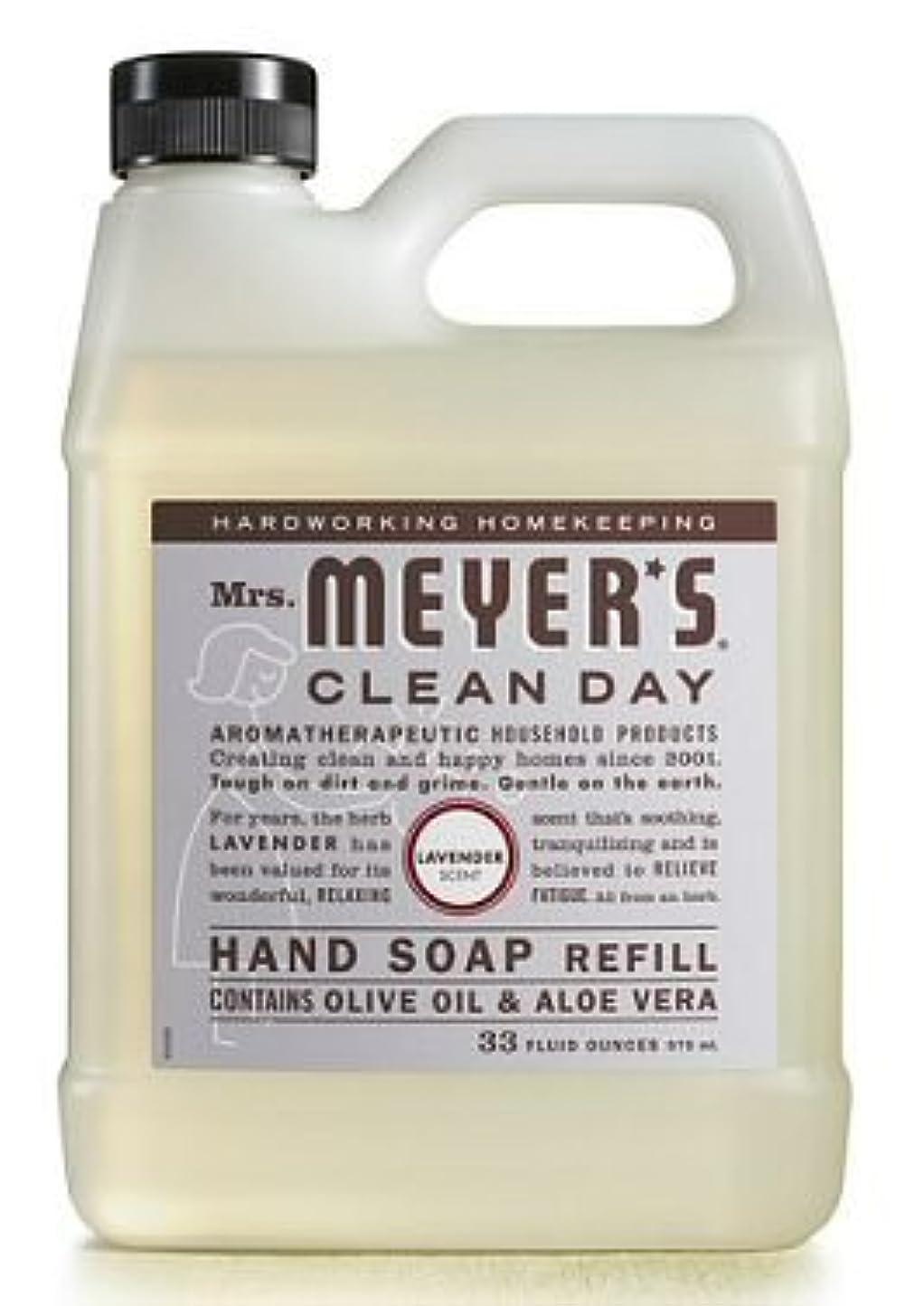 モンキーメイエラランドマークMrs. Meyer's Clean Day ミセスマイヤーのハンドソープ、Liqの、REFL、Lvndr、33 Fzの6パック