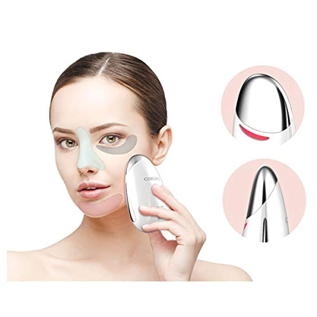アレルギー電化する電報Cozcore ECLORE ガルバニックサーマルフェイスマッサージャーマッサージ Galvanic Thermal Face Massager Massage