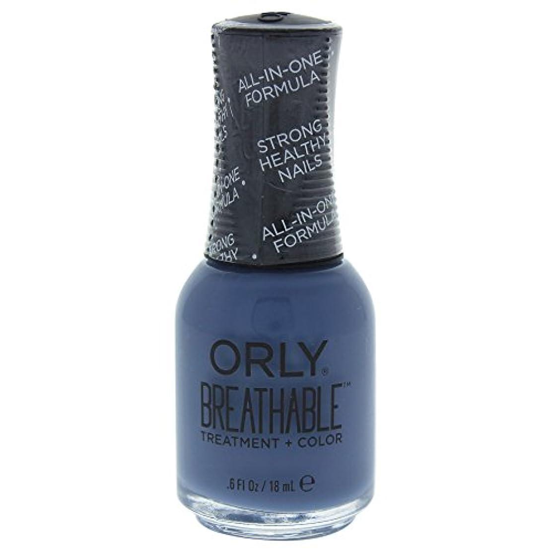 ニコチン正直呼び出すOrly Breathable Treatment + Color Nail Lacquer - De-Stressed Denim - 0.6oz / 18ml