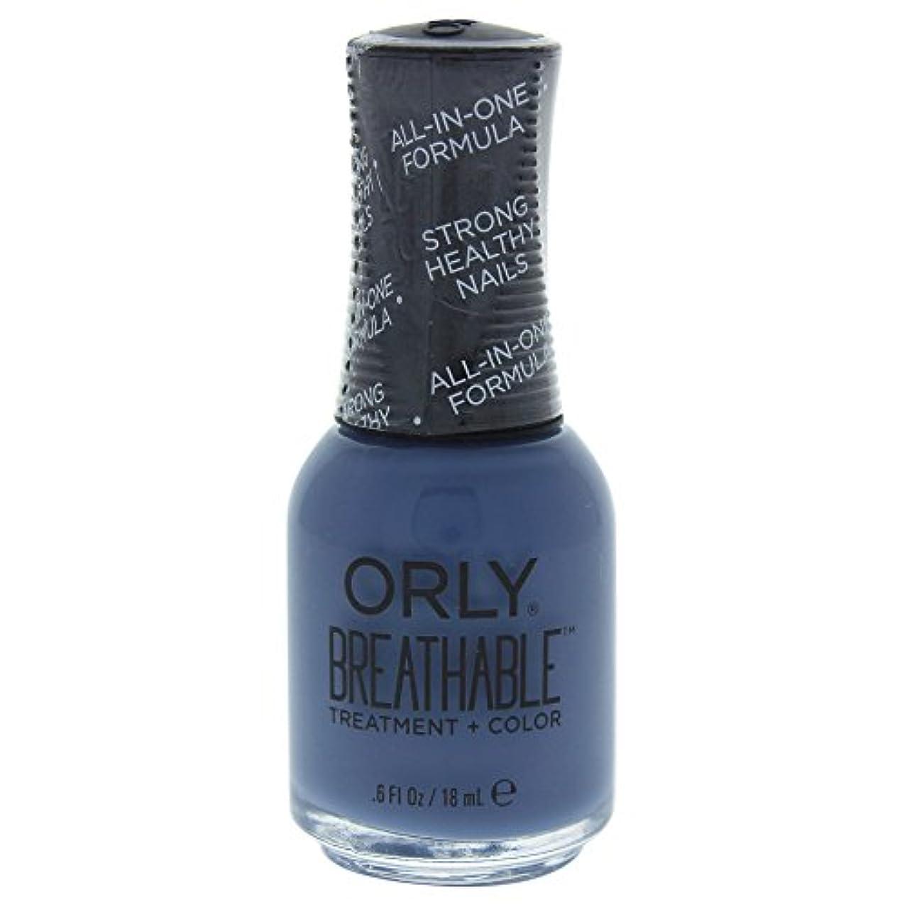 請う分布運営Orly Breathable Treatment + Color Nail Lacquer - De-Stressed Denim - 0.6oz / 18ml