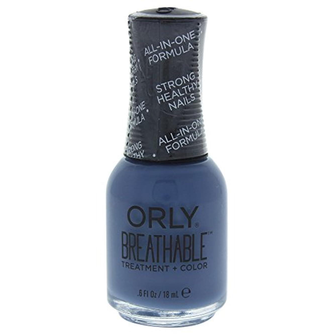 軽蔑するミニブレスOrly Breathable Treatment + Color Nail Lacquer - De-Stressed Denim - 0.6oz / 18ml