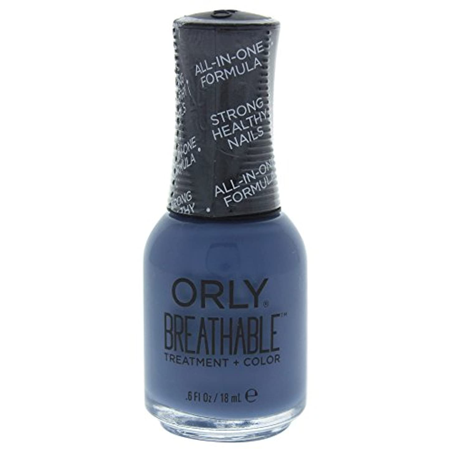 転倒歩行者読書Orly Breathable Treatment + Color Nail Lacquer - De-Stressed Denim - 0.6oz / 18ml