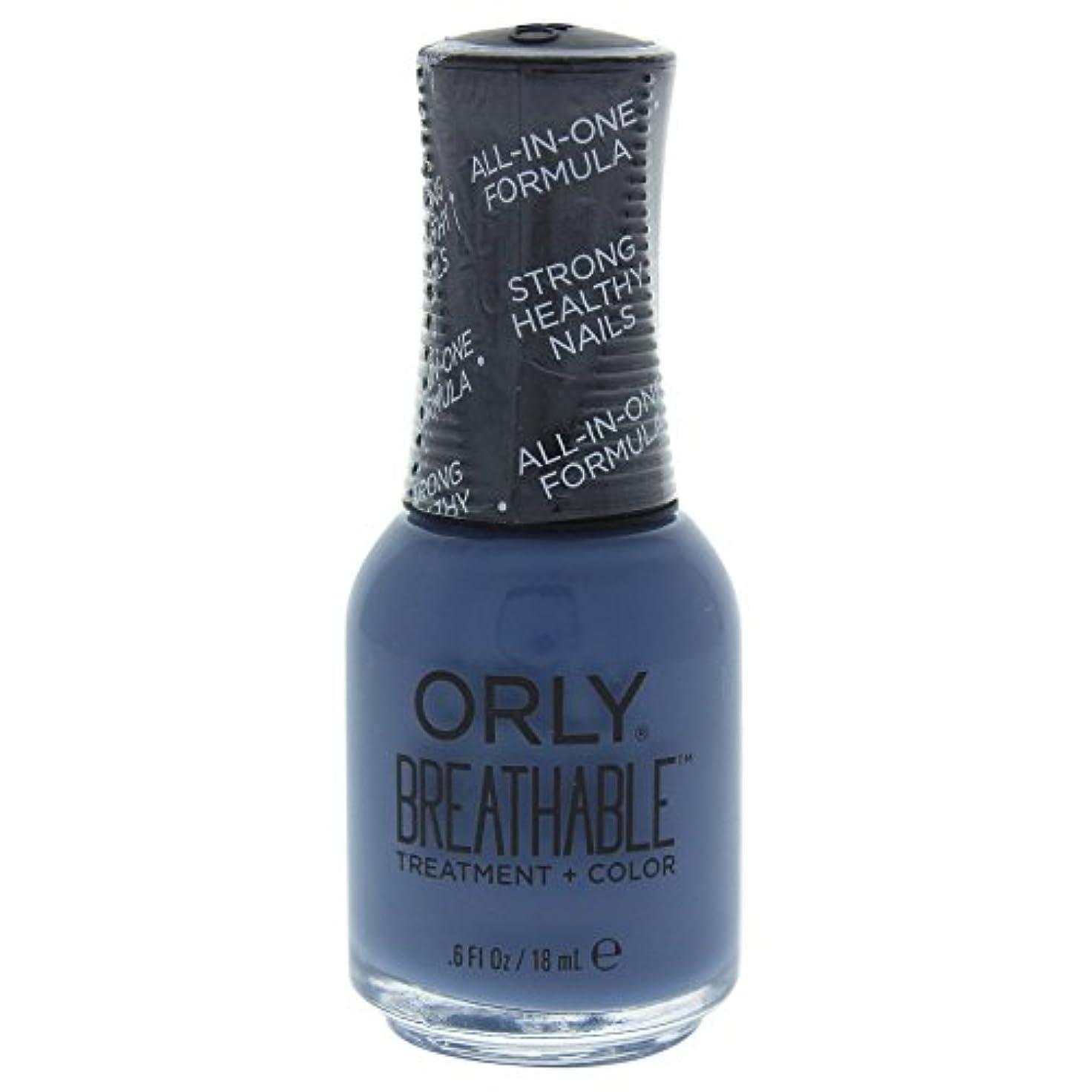 アルファベット順カスタムデコードするOrly Breathable Treatment + Color Nail Lacquer - De-Stressed Denim - 0.6oz / 18ml