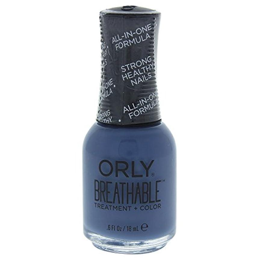 荒らすウェイトレス地殻Orly Breathable Treatment + Color Nail Lacquer - De-Stressed Denim - 0.6oz / 18ml
