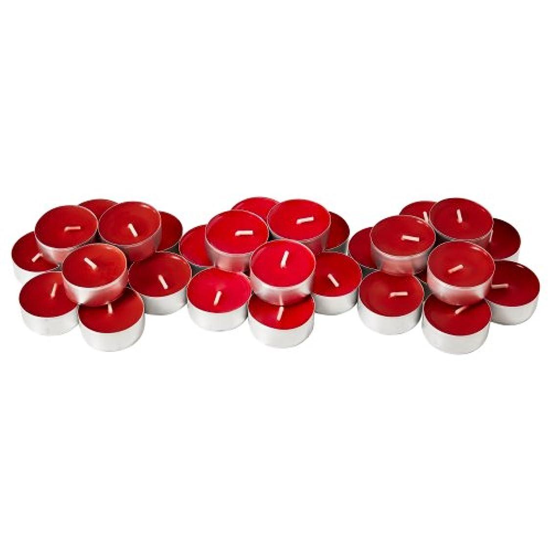 ゴムジョグデザイナーIKEA SINNLIG 30237708 香り付ティーライト スイートベリー レッド 30 ピース