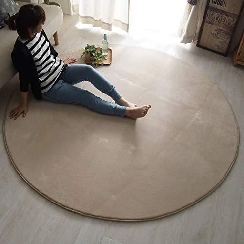 ラグマット 2畳 円形 約 190 cm 洗濯機 洗える さらさら フランネル ウレタン