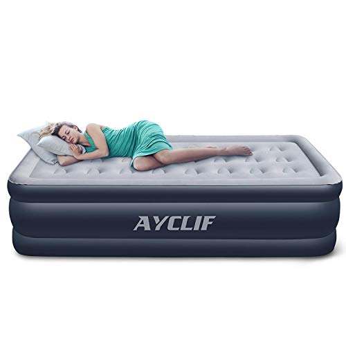 AYCLIF エアーベッド シングル サイズ エアベッド 【Cup-Hole】膨脹式 電動ポンプ 内蔵 空気ベッド