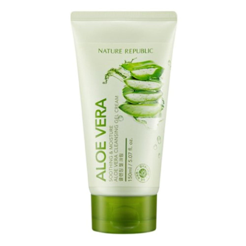 リスキーな熱意論争的[ネイチャーリパブリック] Nature republicスージングアンドモイスチャーアロエベラクレンジングジェルクリーム海外直送品(Soothing And Moisture Aloe Vera Cleansing Gel...