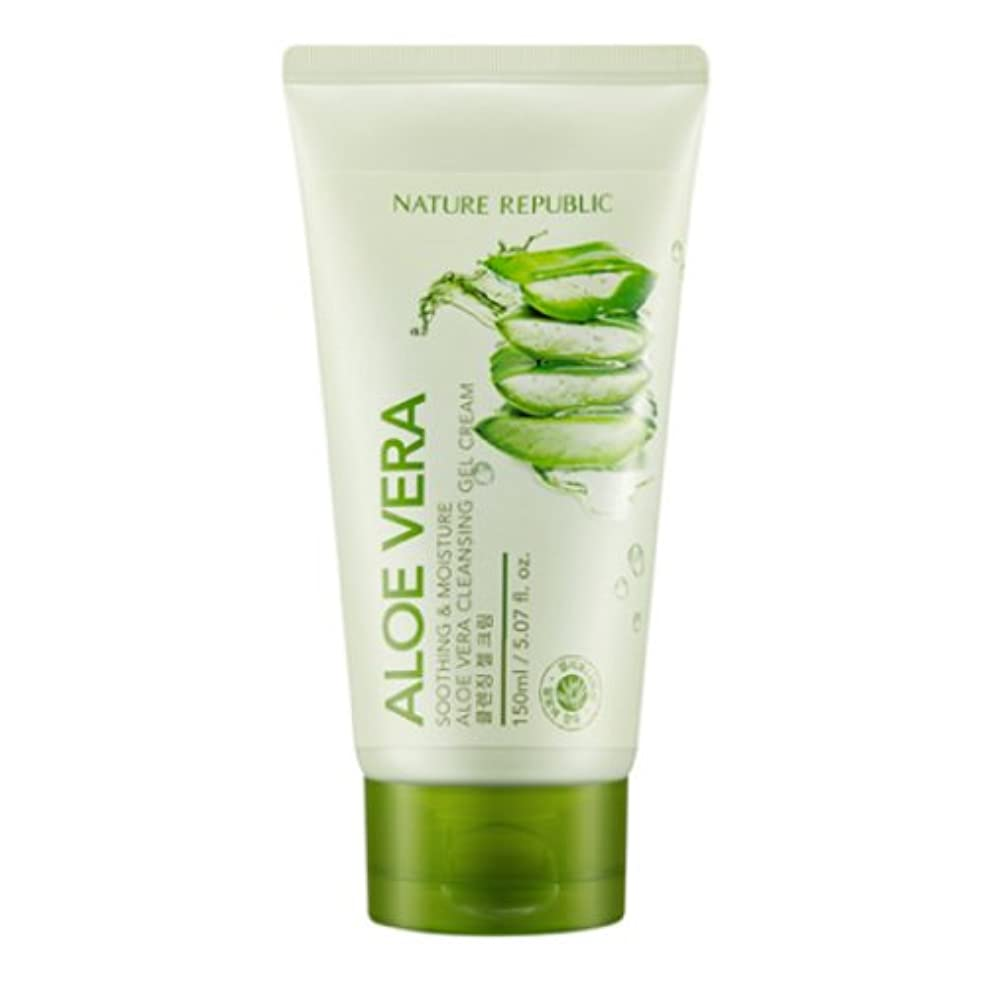 勇気のある注文入手します[ネイチャーリパブリック] Nature republicスージングアンドモイスチャーアロエベラクレンジングジェルクリーム海外直送品(Soothing And Moisture Aloe Vera Cleansing Gel...