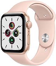 最新 Apple Watch SE(GPSモデル)- 44mmゴールドアルミニウムケースとピンクサンドスポーツバンド