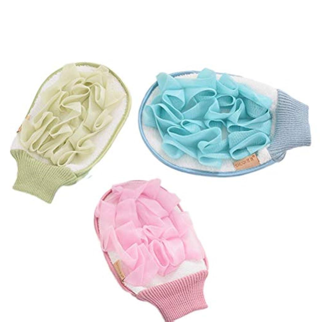 会社クリーク仕様グローブシャワーボール泡立てネット毛穴清潔 角質除去柔らかく軽く快適です 3セット