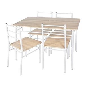 (OSJ) ダイニングテーブル 5点セット ダイニングテーブルセット 食卓テーブルセット 4人用 食卓椅子 モダン (ナチュラル)