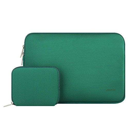 Mosiso ラップトップ ブリーフバッグ 撥水 ライクラ素材 ケースカバー 11-11.6 インチ ウルトラブック/ノートブック/タブレット/MacBook Air用 収納ポーチ付き(ピーコックグリーン)