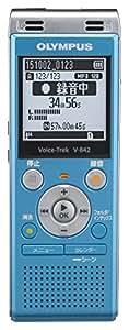 OLYMPUS ICレコーダー VoiceTrek 4GB MicroSD対応 V-842 ブルー V-842 BLU
