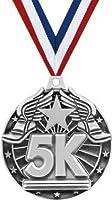 """クラウンAwards 5K Medals–2""""シルバー5K Race Medals Prime"""