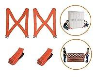 移動ストラップ、キャリー家具Lifting、アプライアンス、マットレス、または任意Heavy Object、2Person移動、ツールフリー、安全、簡単手移動、最大負荷600ポンド