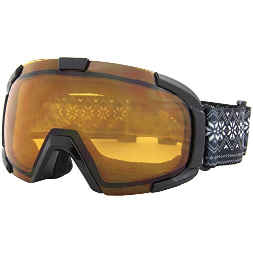 north peak(ノースピーク) ゴーグル スノーボード スキー キッズ ジュニア 【ダブルレンズ 紫外線カット くもり止め】 NP-3665 BK フリーサイズ