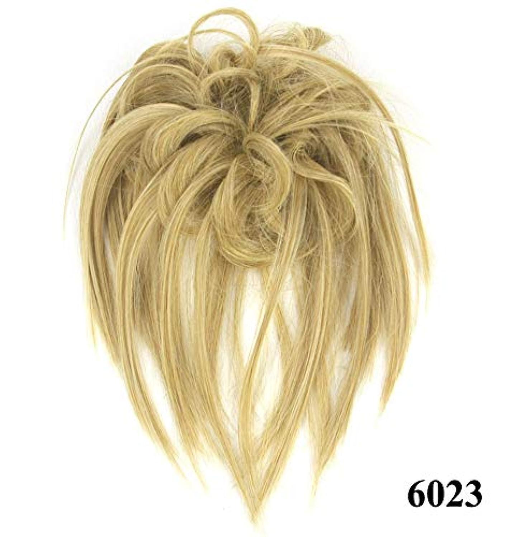 ハンカチスリッパメタリックポニーテールドーナツシニョンアップリボンアクセサリー、乱雑なシュシュ毛の毛延長、女性のためのカーリー波状の作品