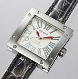 グランドスクエア 45mm AUTOMATIC WHITE(黒ベルト) (ロングベルト) 誕生日 プレゼント 人気 ブランド 時計 メンズ レディース 生活防水