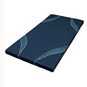 東京西川  [AIR(エアー)] マットレス ネイビー/ハード シングル 高反発 厚み8cm 特殊立体波型凹凸構造 HVB3801002NV