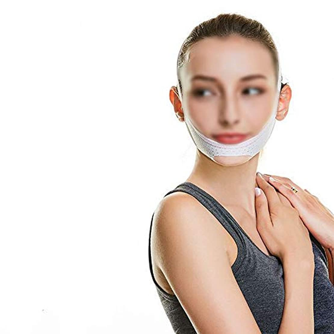 告白する詳細にゴルフ美容ラインの彫刻の後にマスクを復元する、露のあごVフェイス包帯Decree Taut Tight Sleep Thin Face Mask