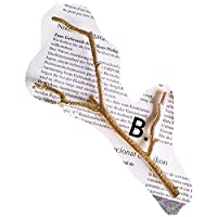 ヴィンテージブリーフスタイルゴールド/シルバーブランチ鈍いポリッシュヘアピンヘアジュエリーウェディングブライダルヘアアクセサリー用女性、ゴールドB