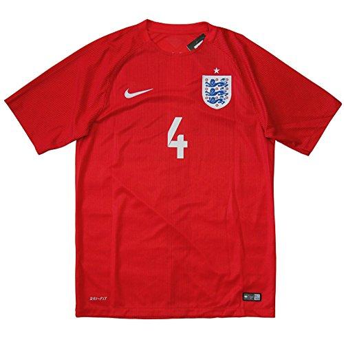 Nike(ナイキ) 2014-15 イングランド代表 アウェイ半袖  #4 GERRARD スティーヴン・ジェラード (インポートM)