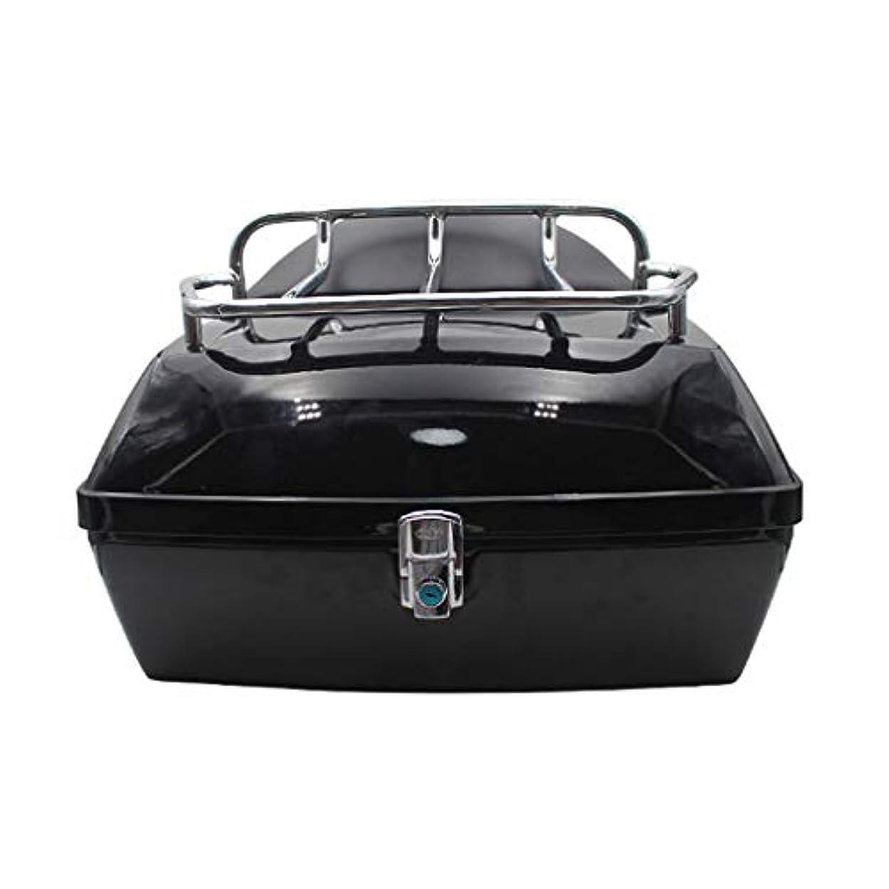 代表するピカリング制限オートバイのテールボックス、棚付き背もたれ付き48 L電気自動車トランク、ユニバーサルバイクトランクヘルメット収納ボックス