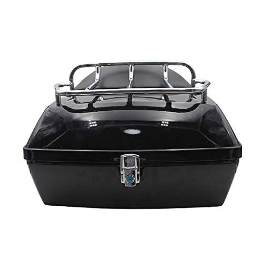 広々とした日食有効なオートバイのテールボックス、棚付き背もたれ付き48 L電気自動車トランク、ユニバーサルバイクトランクヘルメット収納ボックス