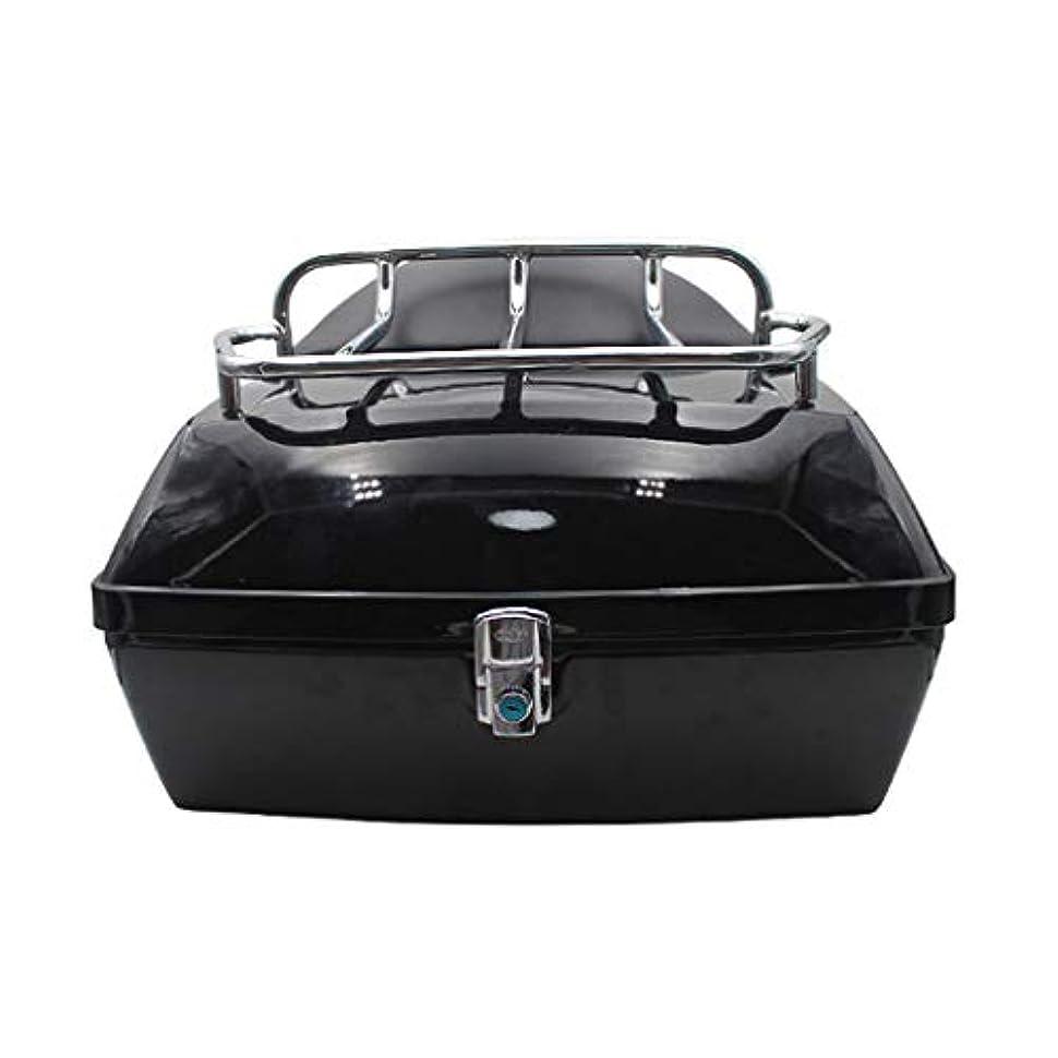 主張機知に富んだ離婚オートバイのテールボックス、棚付き背もたれ付き48 L電気自動車トランク、ユニバーサルバイクトランクヘルメット収納ボックス