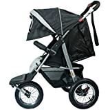 Black Mamakiddies 3 Wheel Baby Stroller Pram Jogger Push Chair