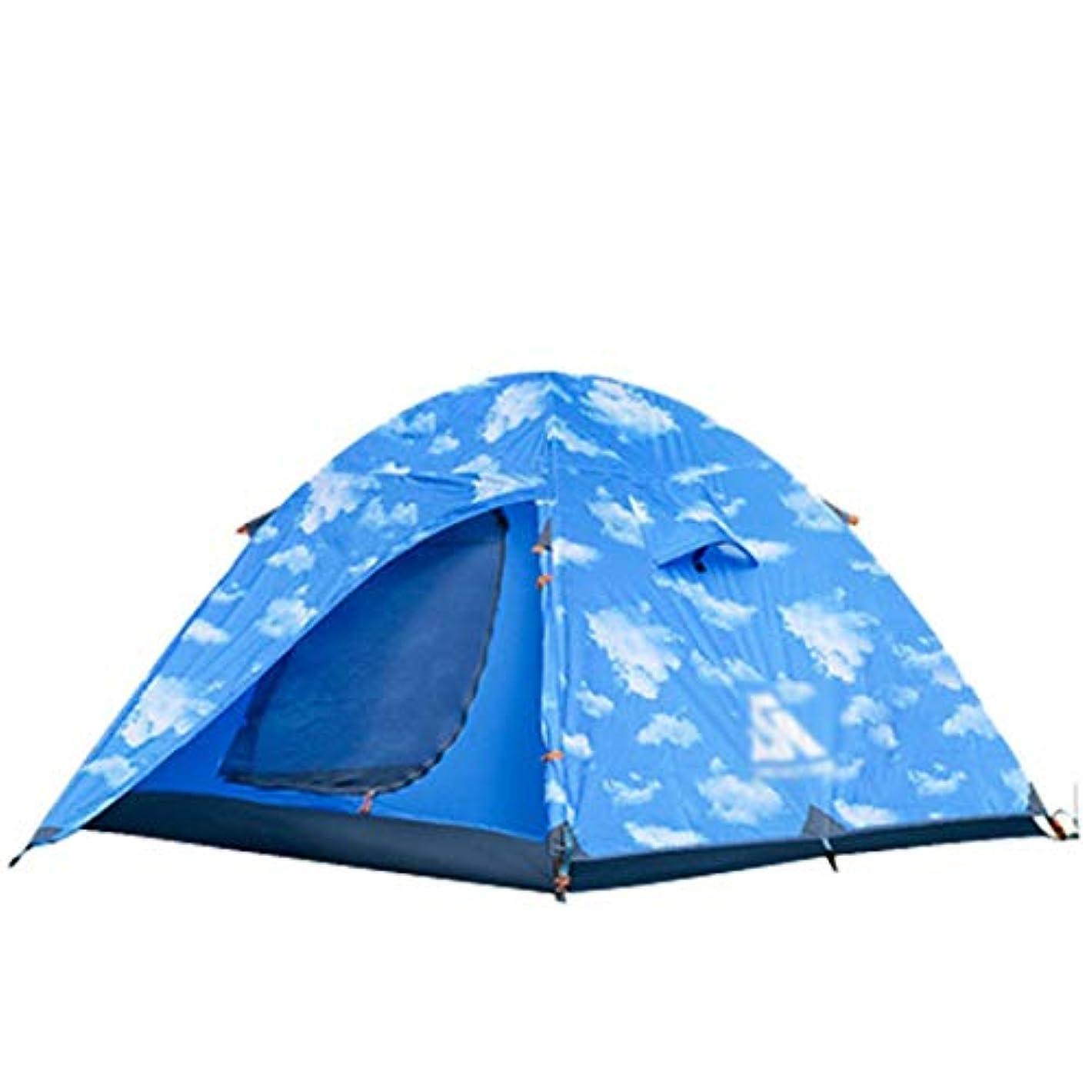 犬一時的機関KingsleyW 3-4人のキャンプテント4シーズンダブルドアアルミロッドバックパッキングテント屋外スポーツのために組み立てる必要があります (サイズ : 3-4P)