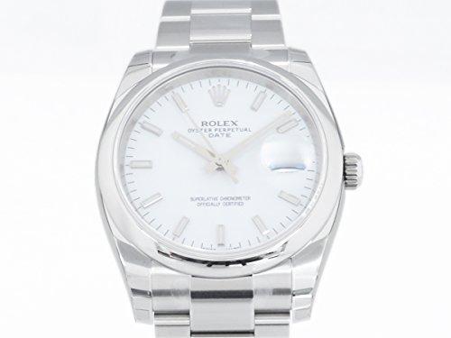ロレックス オイスターパーペチュアル デイト 115200 シルバー メンズ 腕時計 [並行輸入品]