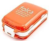 お出かけに便利なお薬ケース 携帯 3段分割 ピルケース 常備薬をコンパクトに収納 (オレンジ×ホワイト)